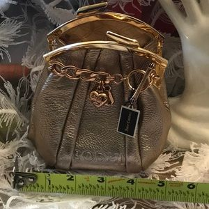 Juicy couture bling credit card bag kiss closure